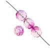 Fire polished 10mm Crystal Rose Fuchsia Two-tone Aurora Borealis